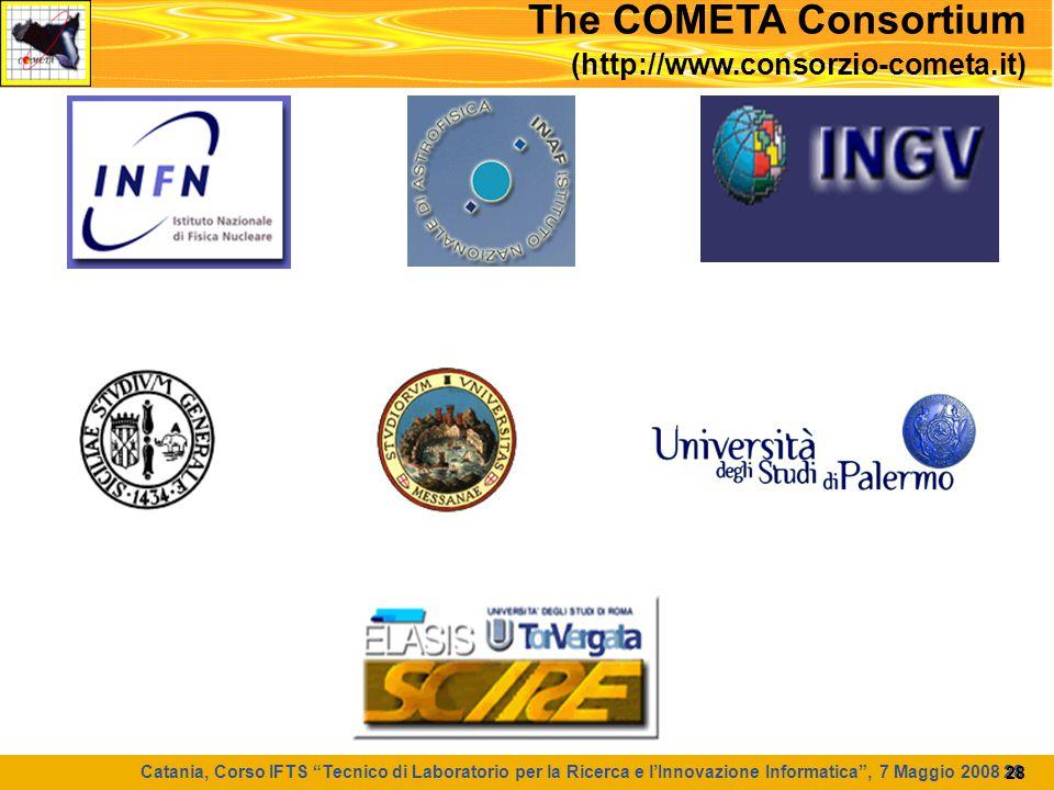 """Catania, Corso IFTS """"Tecnico di Laboratorio per la Ricerca e l'Innovazione Informatica"""", 7 Maggio 2008 28 28 The COMETA Consortium (http://www.consorz"""
