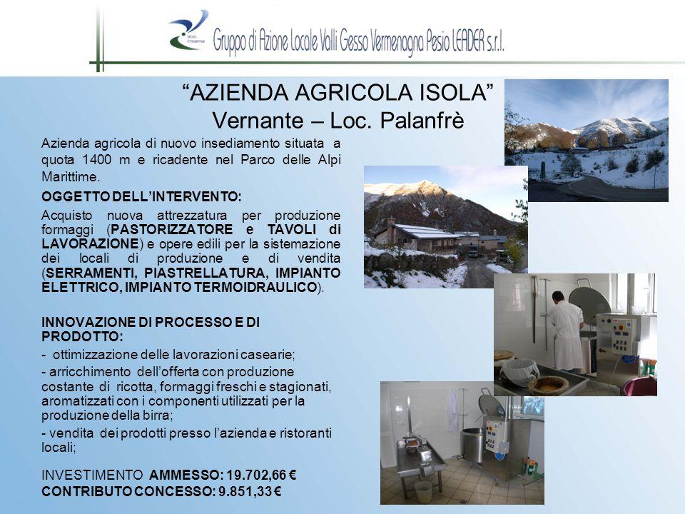 AZIENDA AGRICOLA ISOLA Vernante – Loc.
