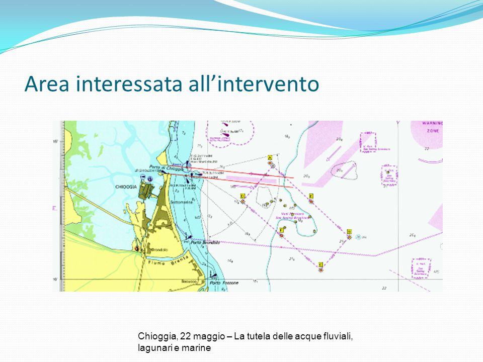 Area interessata all'intervento Chioggia, 22 maggio – La tutela delle acque fluviali, lagunari e marine