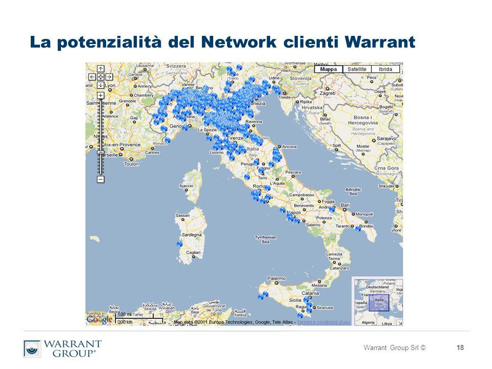 La potenzialità del Network clienti Warrant Warrant Group Srl ©18