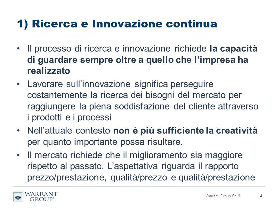 WIN: le 4 aree chiave Il circolo virtuoso si innesta su questi 4 pilastri che opportunamente gestiti possono essere decisivi nel percorso di crescita dell'impresa: 1.Ricerca e Innovazione 2.Risorse Umane 3.Internazionalizzazione 4.Finanza d'impresa L'ambizione è quella di poter offrire all'impresa italiana una partnership qualificata per affrontare efficacemente il proprio percorso di sviluppo.