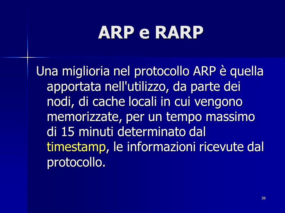 31 ICMP ICMP (Internet Control Message Protocol) è un protocollo complementare ad IP che gestisce gli errori ed i messaggi di controllo.