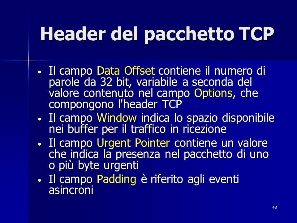 44 UDP UDP è un protocollo di trasporto di tipo non connesso ed è alternativo al protocollo TCP (ma più snello); viene infatti utilizzato quando non è richiesta la stessa affidabilità di TCP.