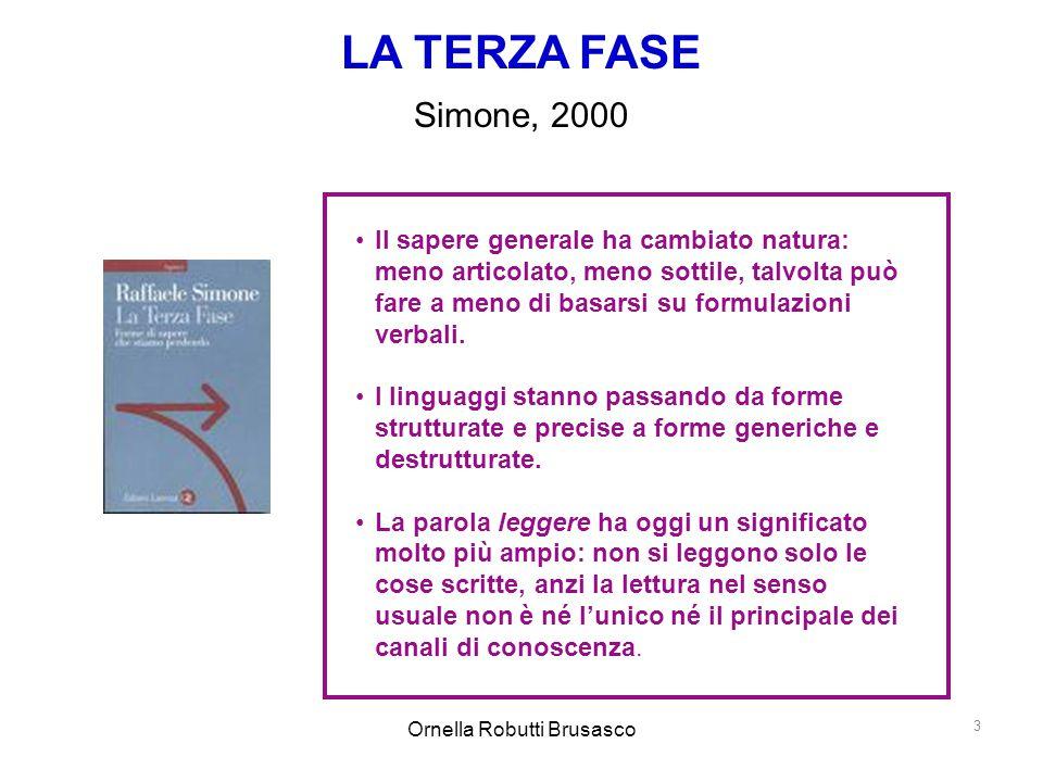 Ornella Robutti Brusasco 3 Il sapere generale ha cambiato natura: meno articolato, meno sottile, talvolta può fare a meno di basarsi su formulazioni v