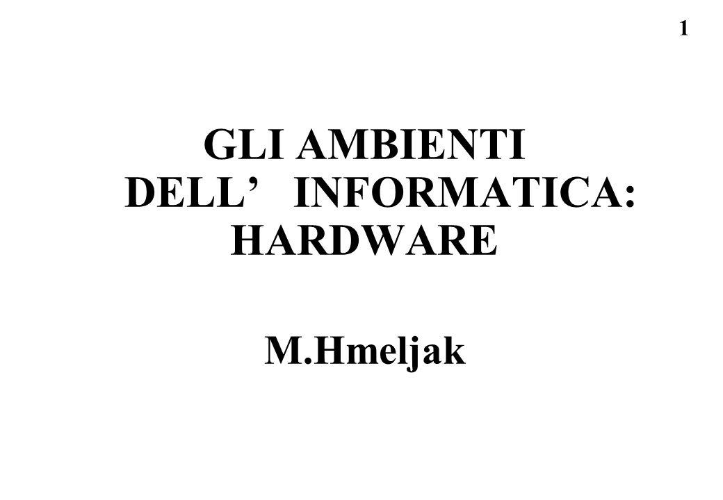 1 GLI AMBIENTI DELL' INFORMATICA: HARDWARE M.Hmeljak