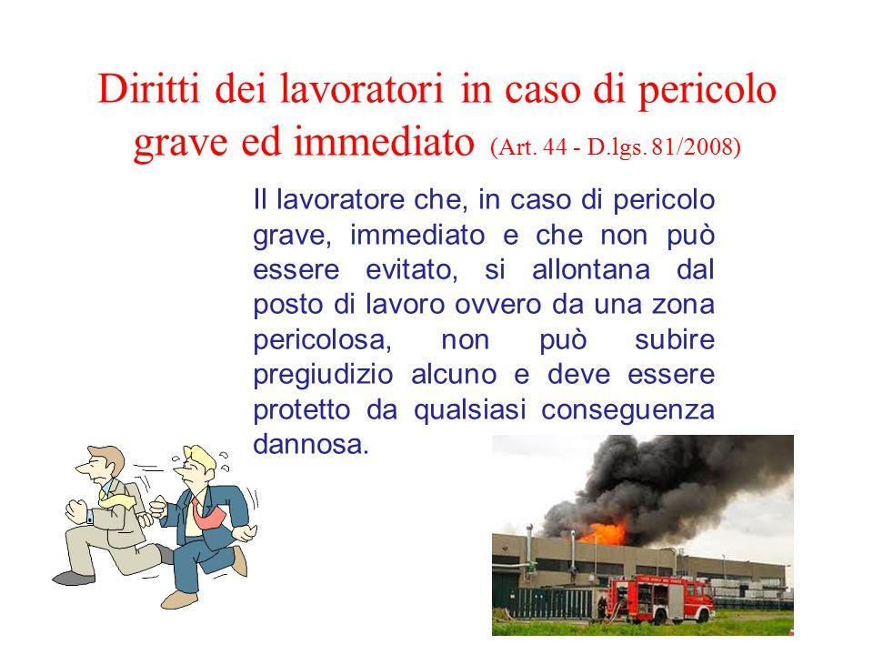 Diritti dei lavoratori in caso di pericolo grave ed immediato (Art.