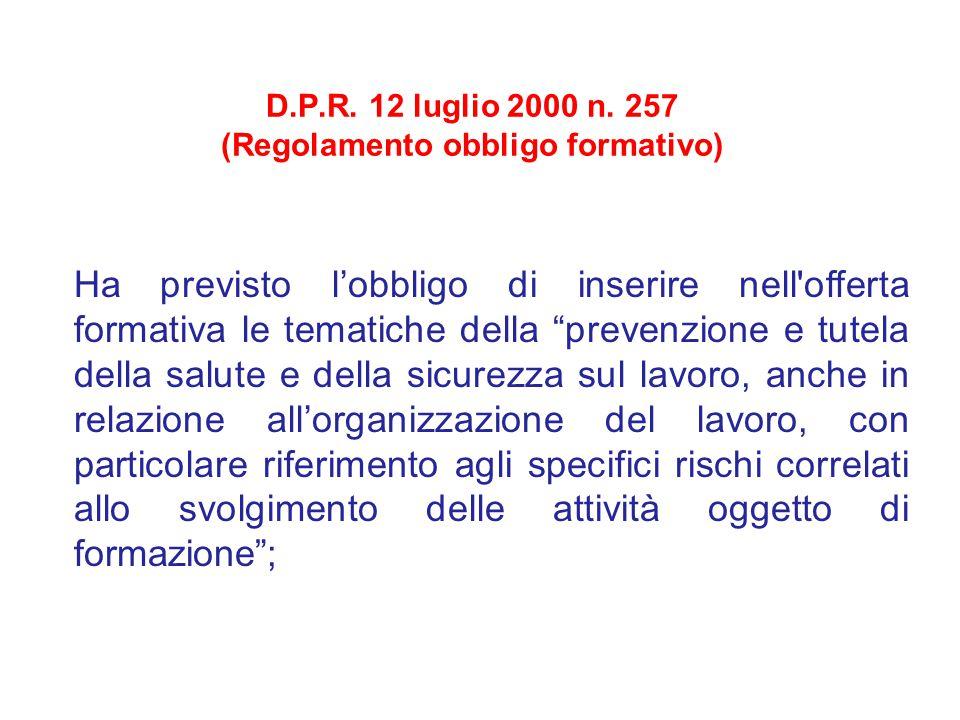D.P.R.12 luglio 2000 n.