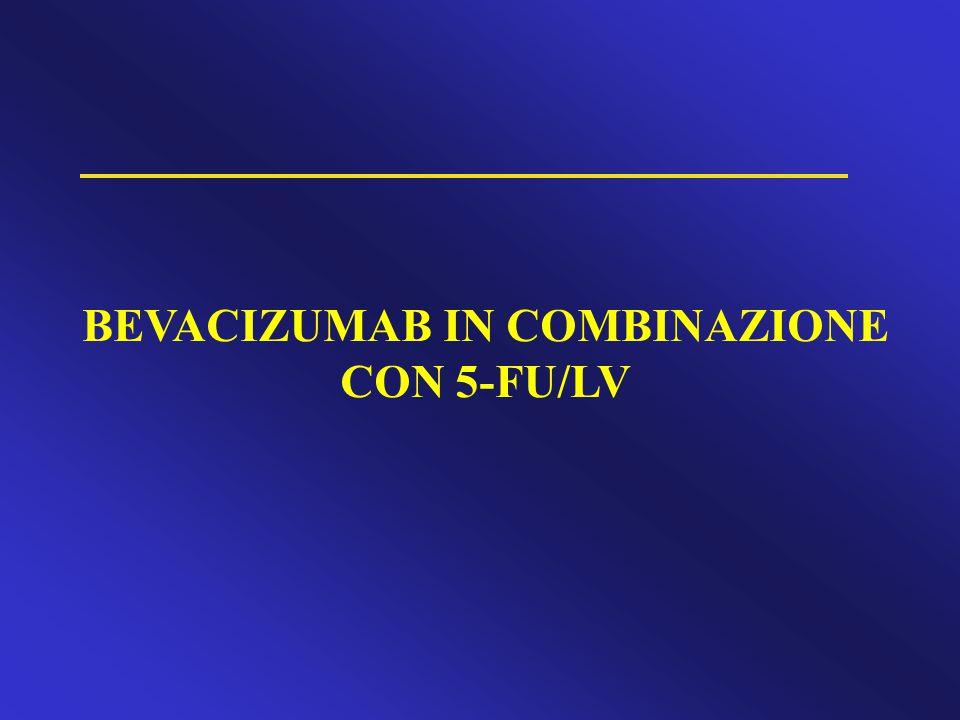 BEVACIZUMAB IN COMBINAZIONE CON 5-FU/LV