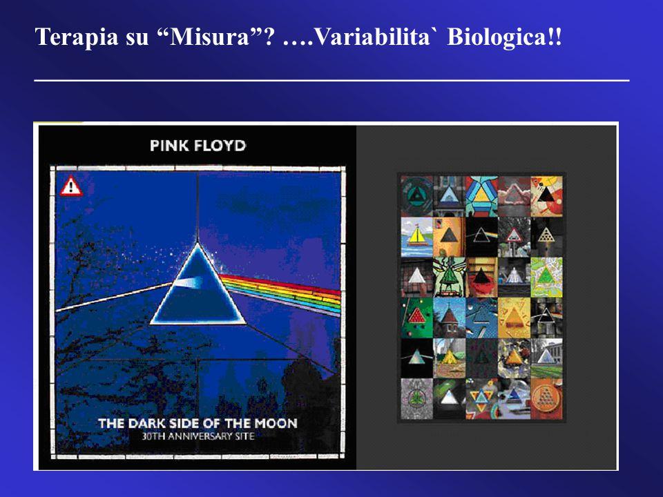 "Terapia su ""Misura""? ….Variabilita` Biologica!! ______________________________________________"