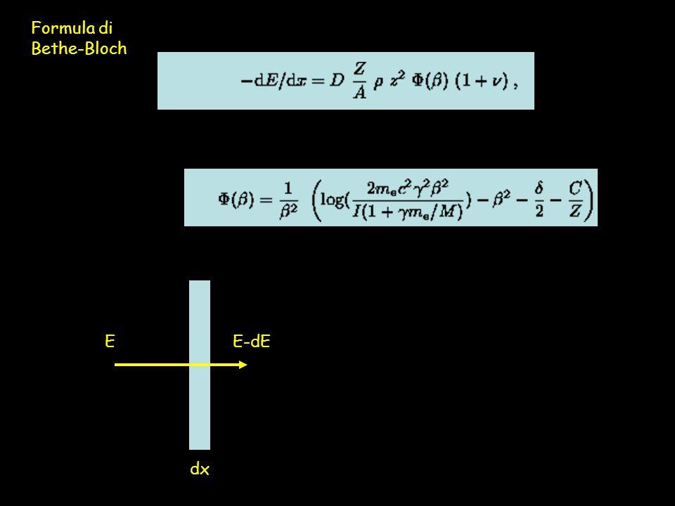 Formula di Bethe-Bloch dx EE-dE