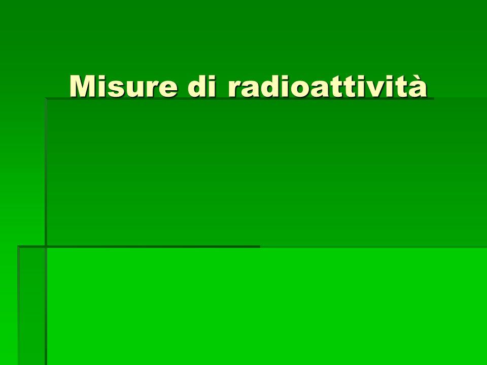 Misure di radioattività