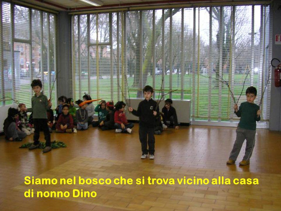 Nonno Dino e i suoi due nipotini, Marco e Anna, vanno a fare una passeggiata nel bosco