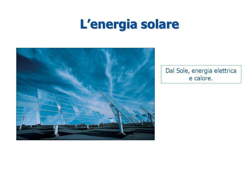 L'energia solare Dal Sole, energia elettrica e calore.