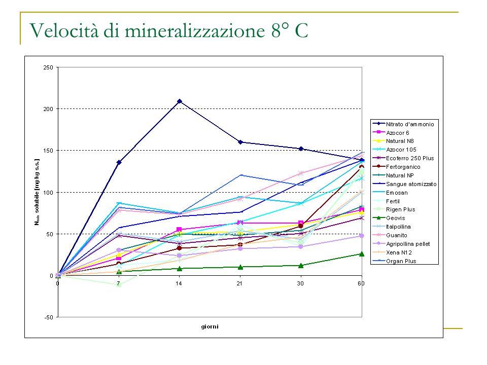 Velocità di mineralizzazione 8° C