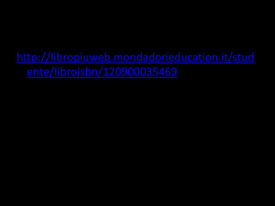 http://libropiuweb.mondadorieducation.it/stud ente/libroisbn/120900035469