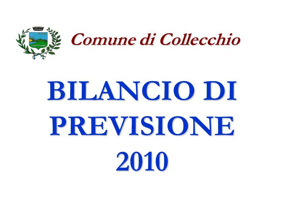 BILANCIO DI PREVISIONE 2010 Comune di Collecchio Comune di Collecchio