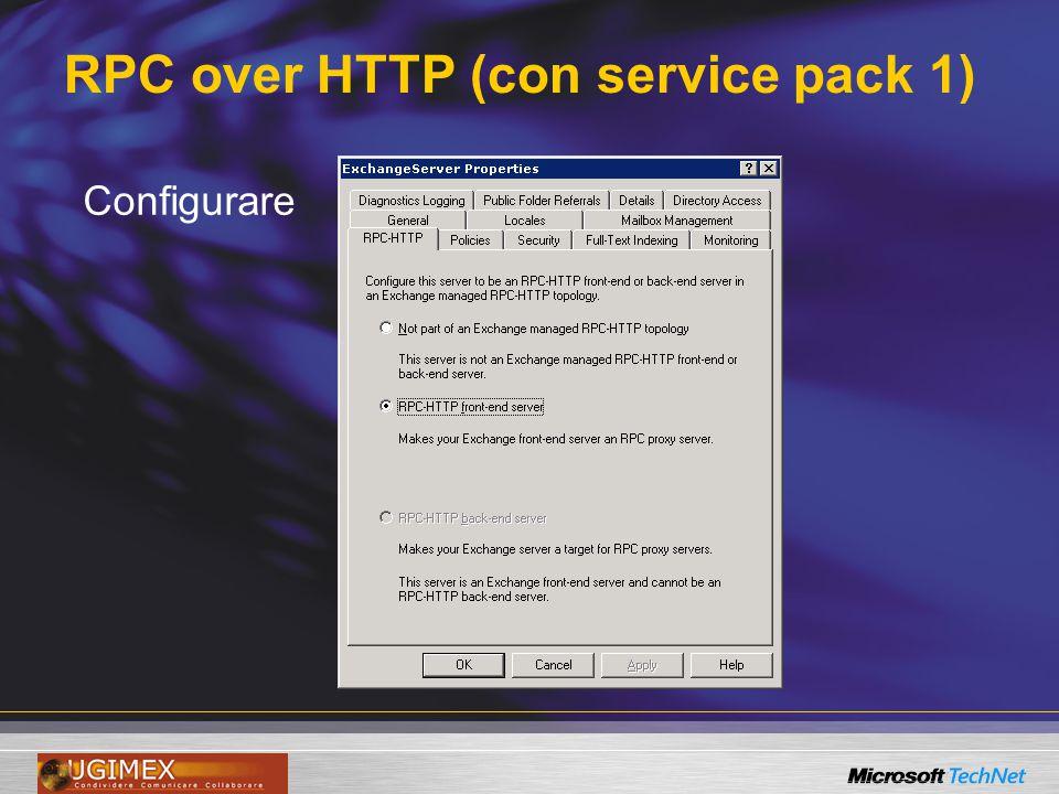 RPC over HTTP (con service pack 1) Configurare