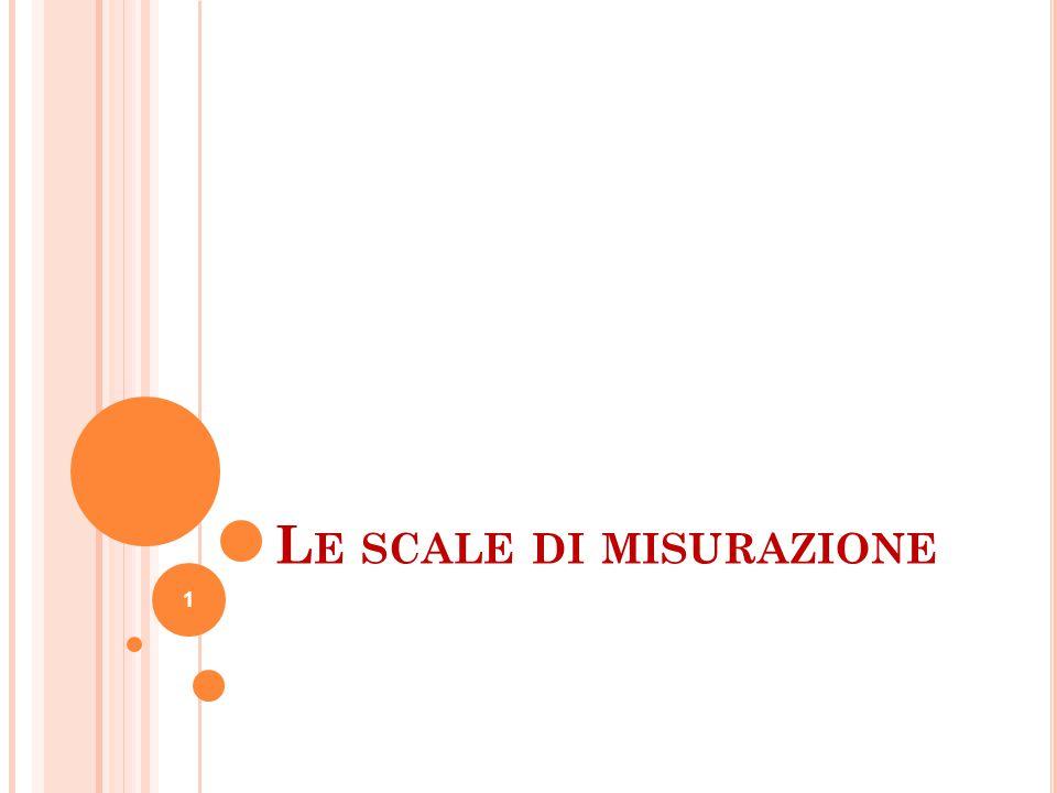 L E SCALE DI MISURAZIONE 1