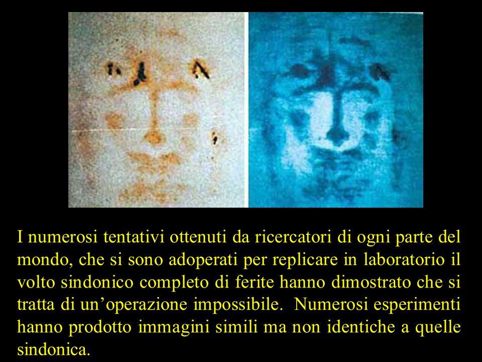 I numerosi tentativi ottenuti da ricercatori di ogni parte del mondo, che si sono adoperati per replicare in laboratorio il volto sindonico completo d