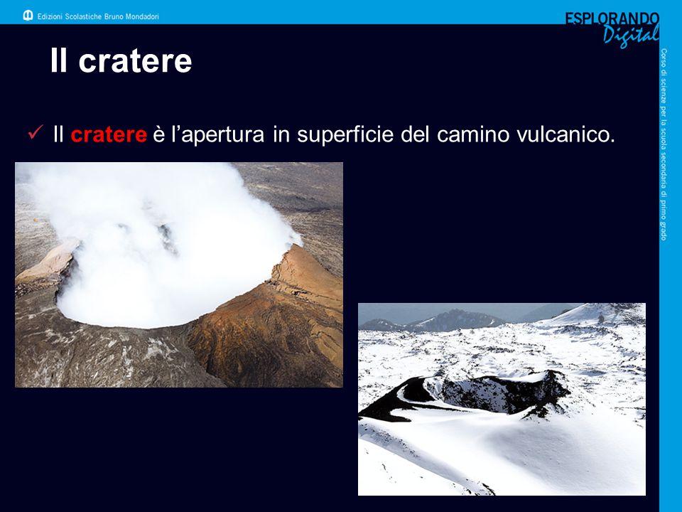 Il cratere Il cratere è l'apertura in superficie del camino vulcanico.