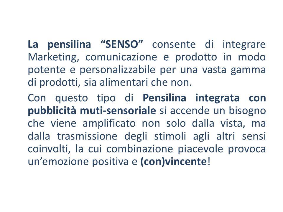 """La pensilina """"SENSO"""" consente di integrare Marketing, comunicazione e prodotto in modo potente e personalizzabile per una vasta gamma di prodotti, sia"""