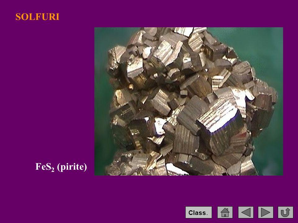 SOLFURI FeS 2 (pirite) Class.