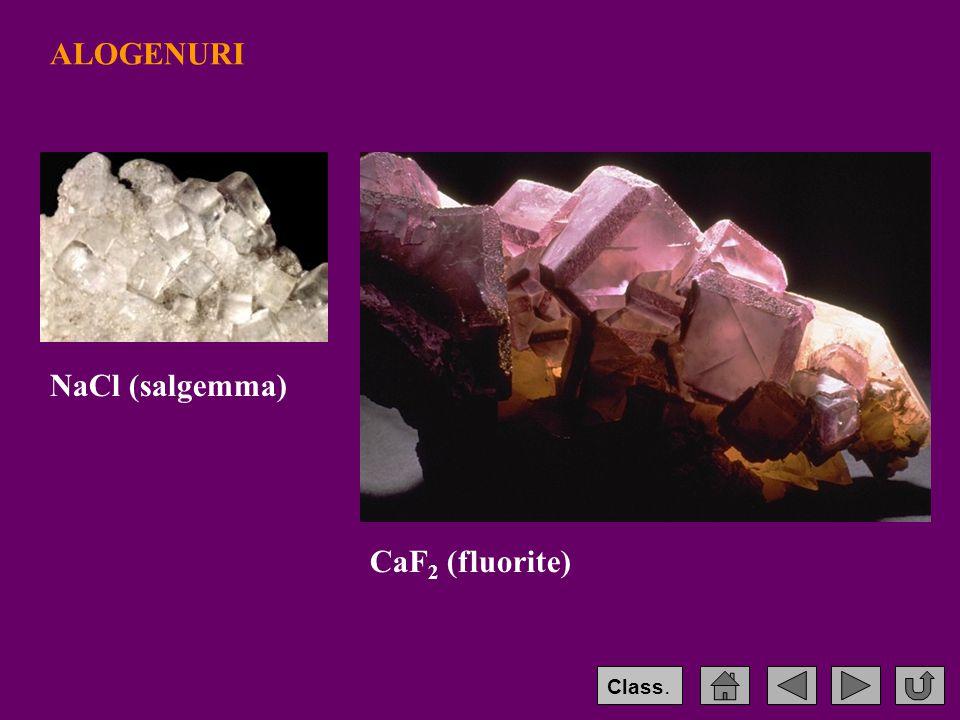 ALOGENURI NaCl (salgemma) CaF 2 (fluorite) Class.