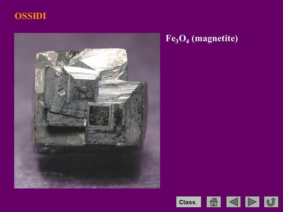 OSSIDI Fe 3 O 4 (magnetite) Class.