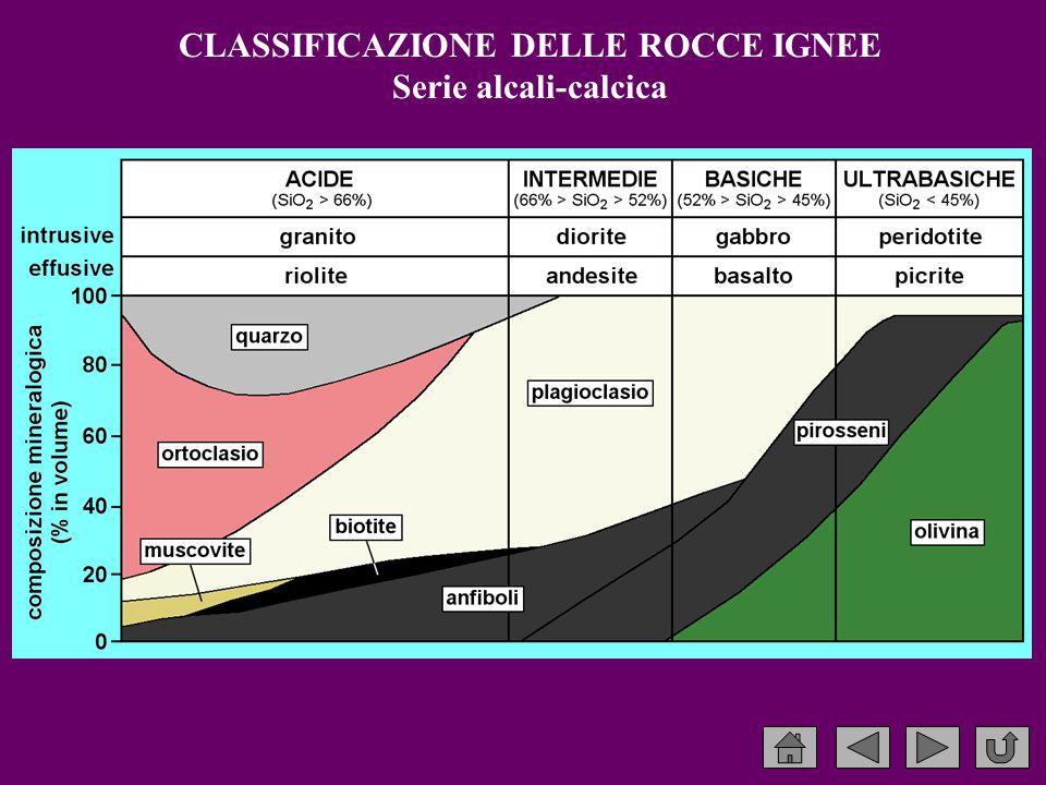 CLASSIFICAZIONE DELLE ROCCE IGNEE Serie alcali-calcica