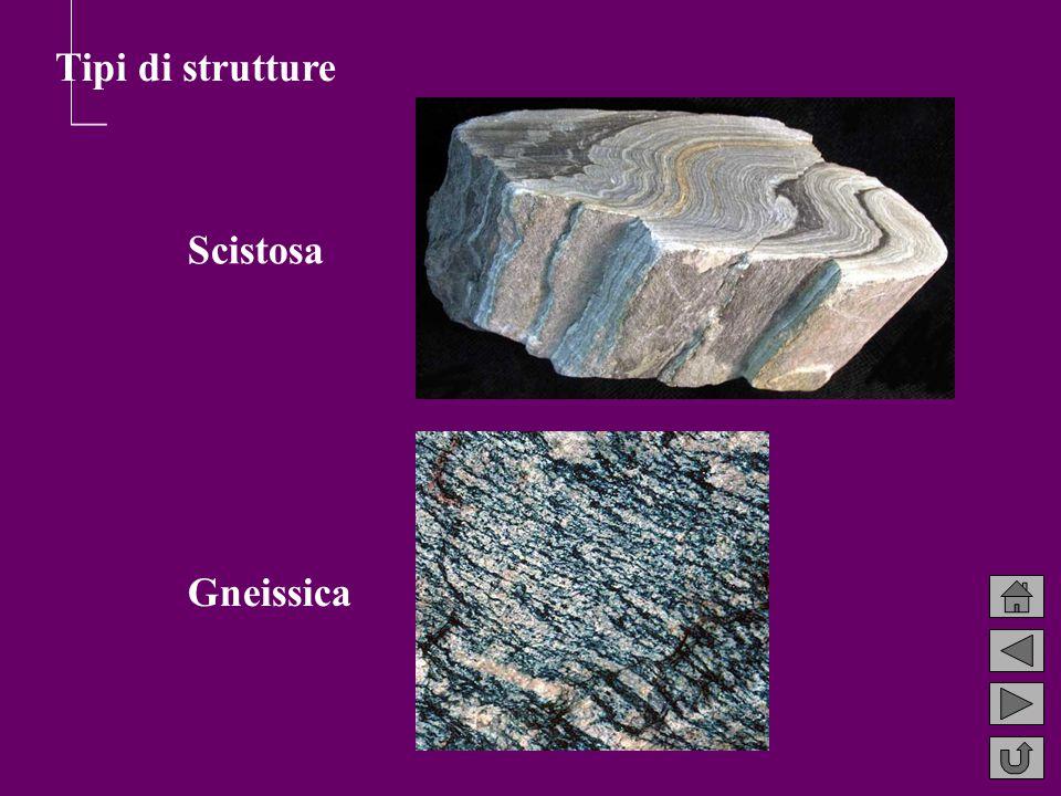 Scistosa Gneissica Tipi di strutture