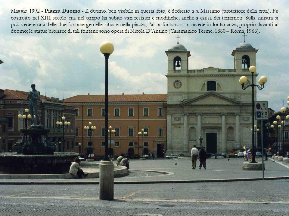L'Aquila è dal 1860 il capoluogo dell'Abruzzo.