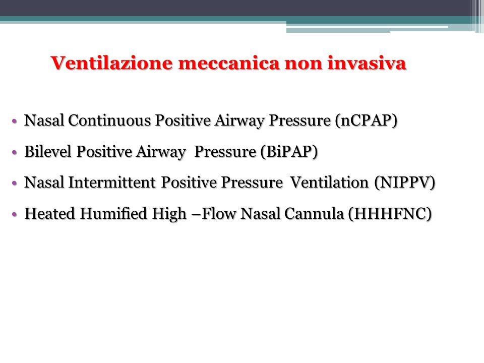 Ventilazione meccanica non invasiva Nasal Continuous Positive Airway Pressure (nCPAP)Nasal Continuous Positive Airway Pressure (nCPAP) Bilevel Positiv