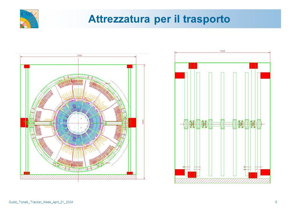 Guido_Tonelli _Tracker_Week_April_21_ 200410 Integrazione Montare moduli, mother cables, ibridi ottici analogici e DOM su 22 strutture meccaniche (16 semi-gusci e 6 dischi) servite dal sistema di raffreddamento e con gli elementi di precisione integrati.