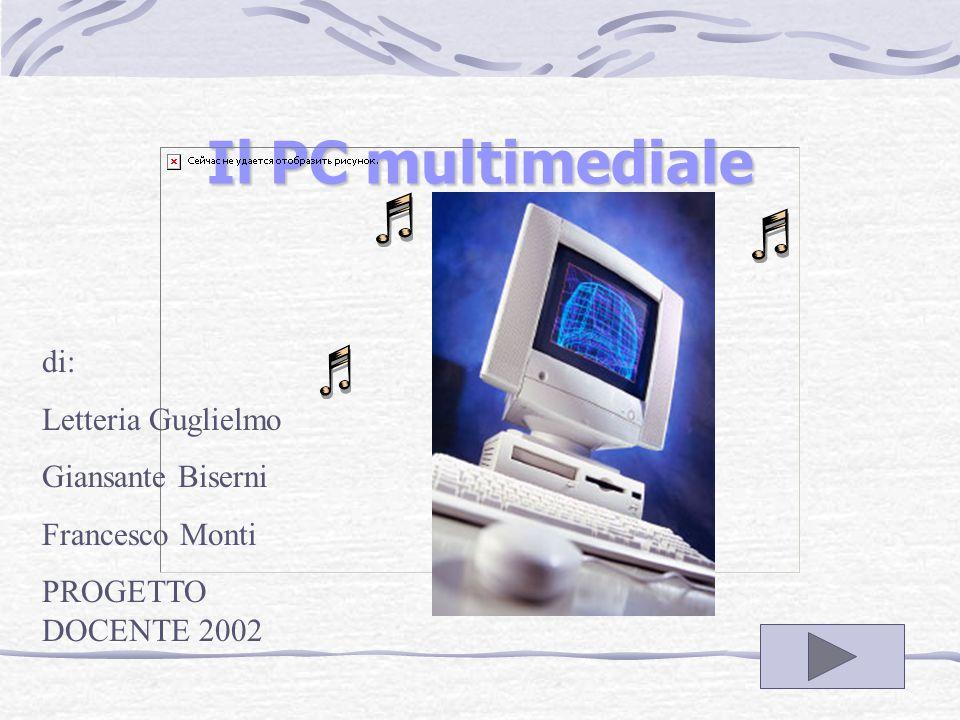 Il PC multimediale di: Letteria Guglielmo Giansante Biserni Francesco Monti PROGETTO DOCENTE 2002
