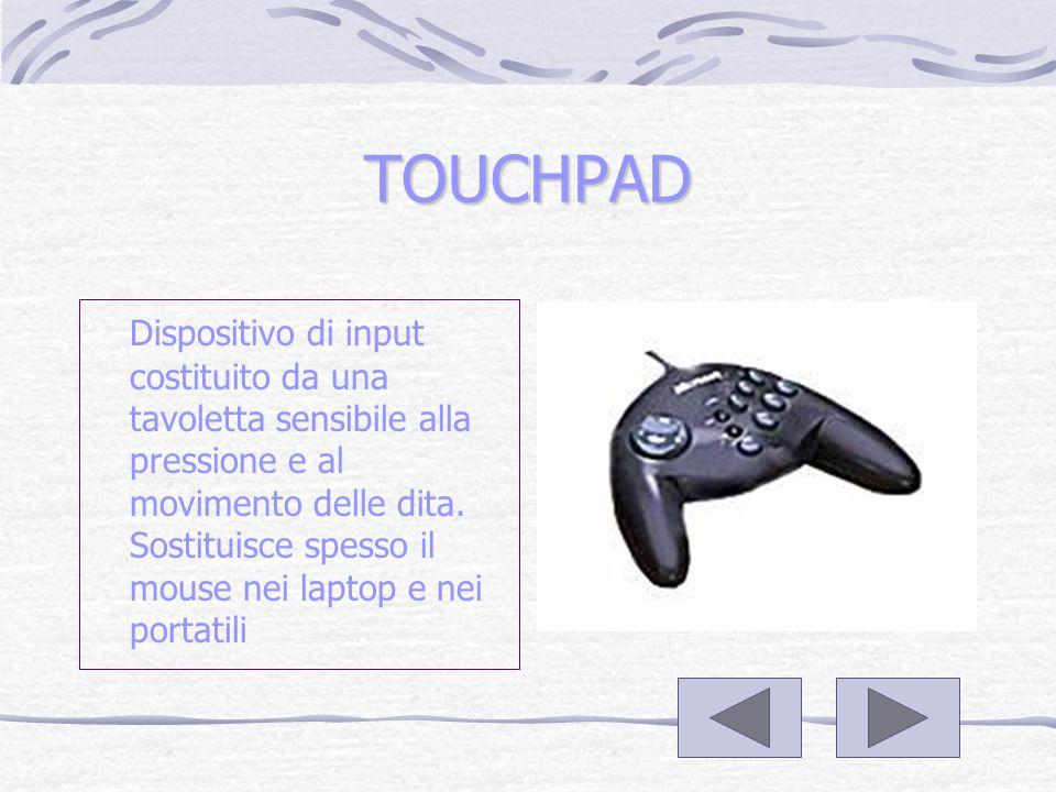 IL JOYSTICK Dispositivo usato per muovere il cursore sullo schermo.Molto usato per i video games.Ne esistono di vari tipi e forme sia digitali che analogici