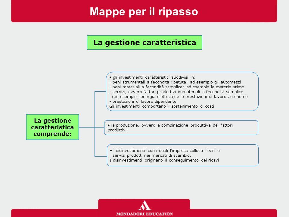 Mappe per il ripasso gli investimenti caratteristici suddivisi in: - beni strumentali a fecondità ripetuta; ad esempio gli automezzi - beni materiali