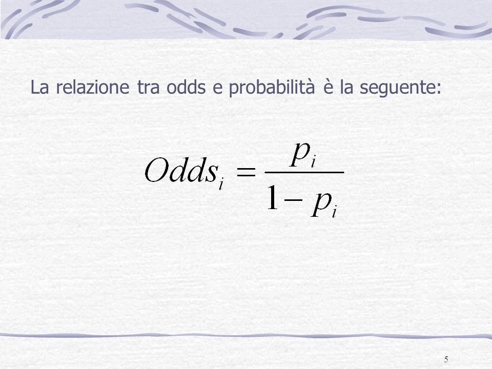 16 Il problema dell'asimmetria Quando interpretiamo la forza degli odds e degli odds ratio dobbiamo ricordare che i valori degli odds sono asimmetricamente situati attorno ad 1, che è il valore dell'assenza di differenza.