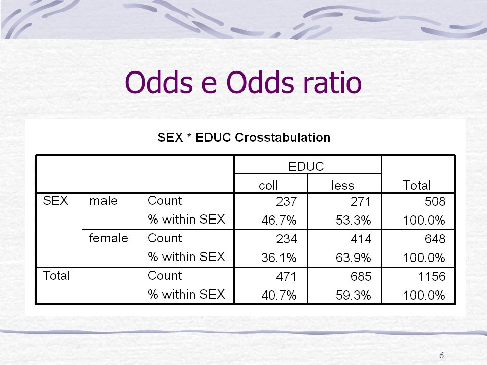 6 Odds e Odds ratio