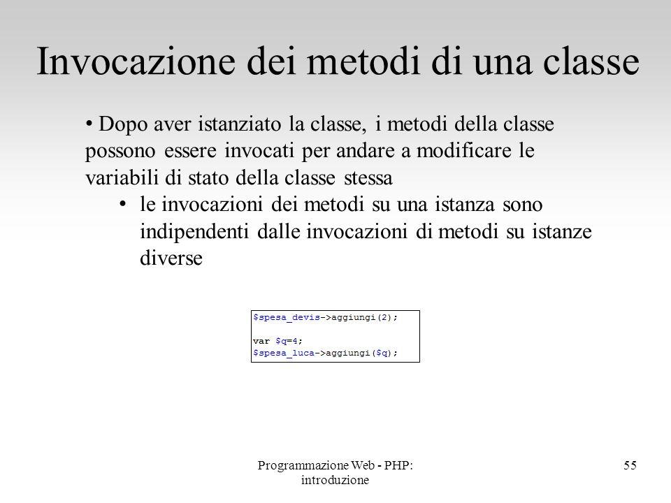 Dopo aver istanziato la classe, i metodi della classe possono essere invocati per andare a modificare le variabili di stato della classe stessa le inv