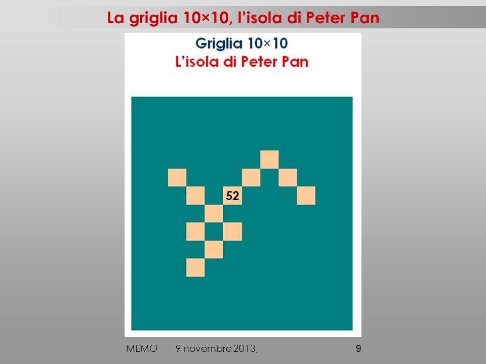La griglia 10×10, l'isola di Peter Pan MEMO - 9 novembre 2013, 9