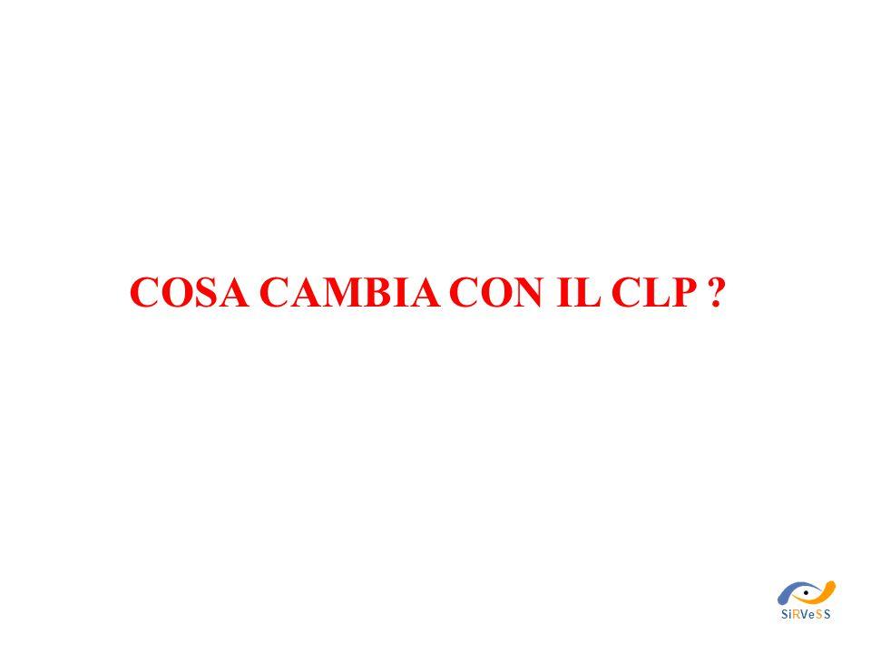 COSA CAMBIA CON IL CLP ? SiRVeSS
