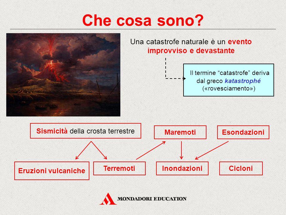 """Che cosa sono? Il termine """"catastrofe"""" deriva dal greco katastrophé («rovesciamento») Una catastrofe naturale è un evento improvviso e devastante Eson"""
