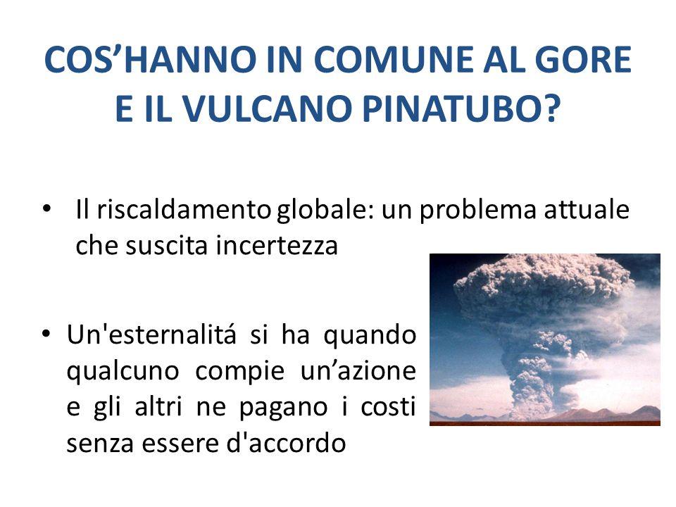 COS'HANNO IN COMUNE AL GORE E IL VULCANO PINATUBO.