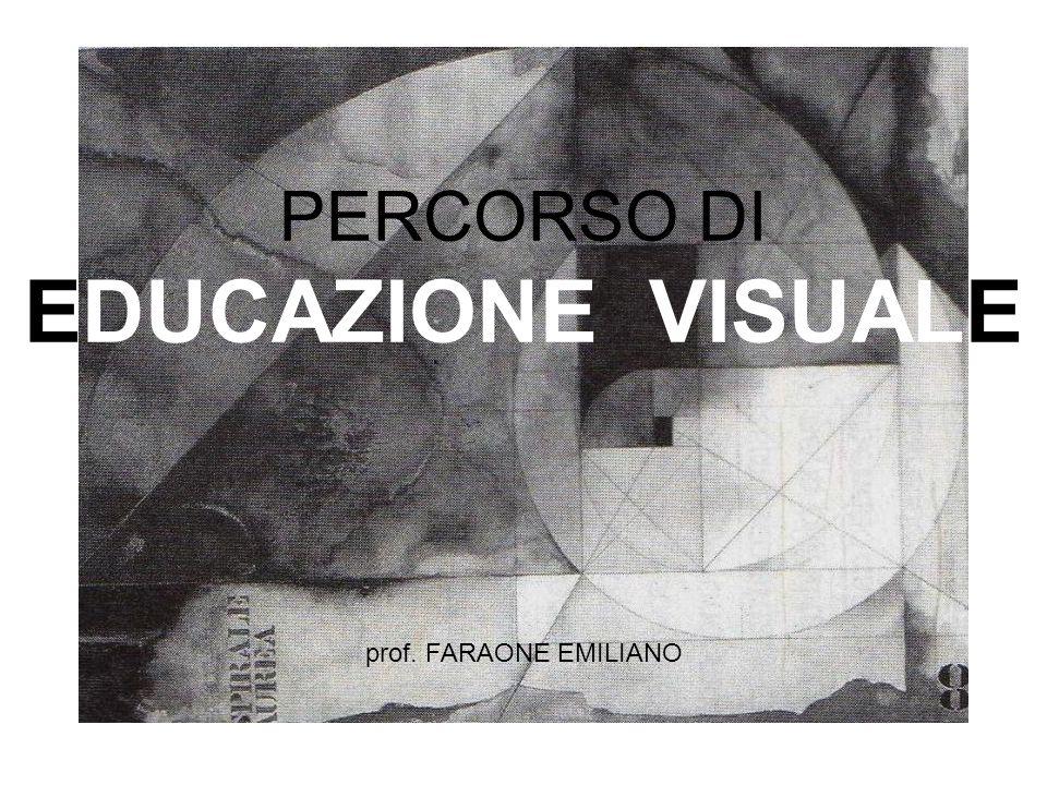 PERCORSO DI EDUCAZIONE VISUALE prof. FARAONE EMILIANO