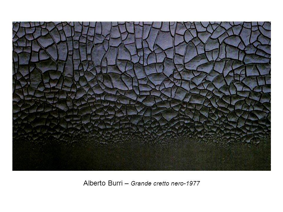 Alberto Burri – Grande cretto nero-1977