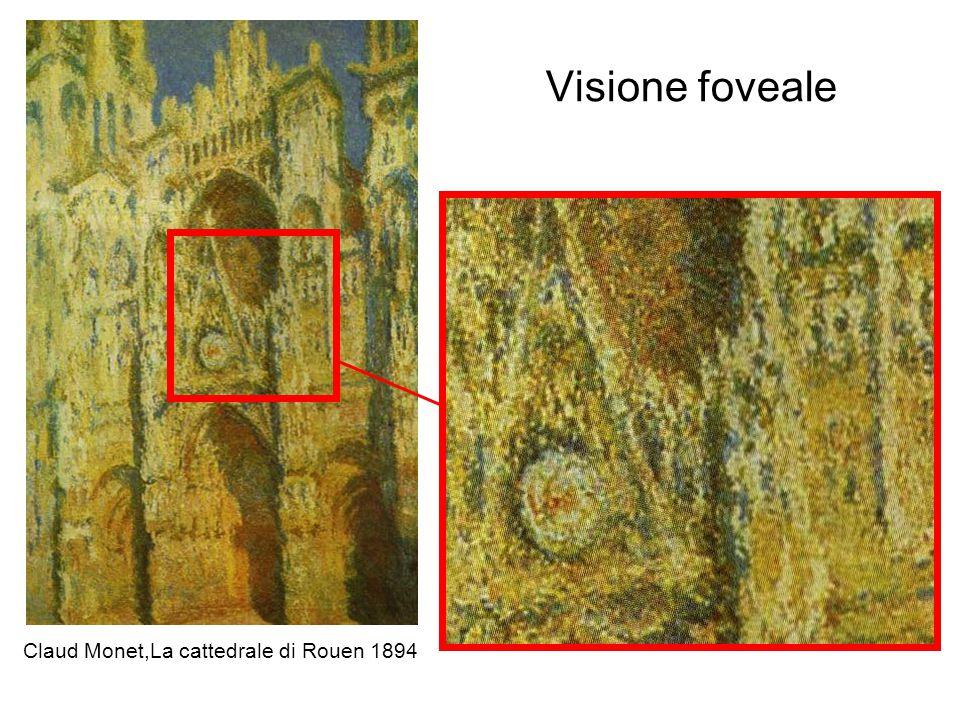 Visione foveale Claud Monet,La cattedrale di Rouen 1894