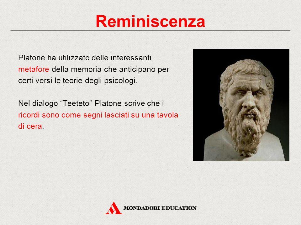 """Platone ha utilizzato delle interessanti metafore della memoria che anticipano per certi versi le teorie degli psicologi. Nel dialogo """"Teeteto"""" Platon"""