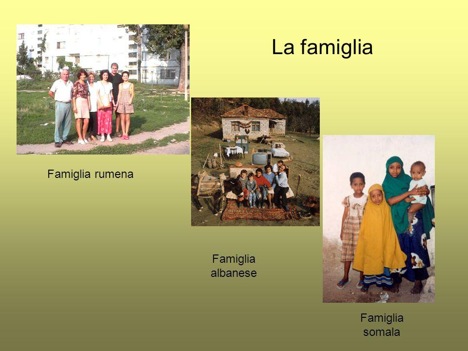La famiglia Famiglia rumena Famiglia albanese Famiglia somala