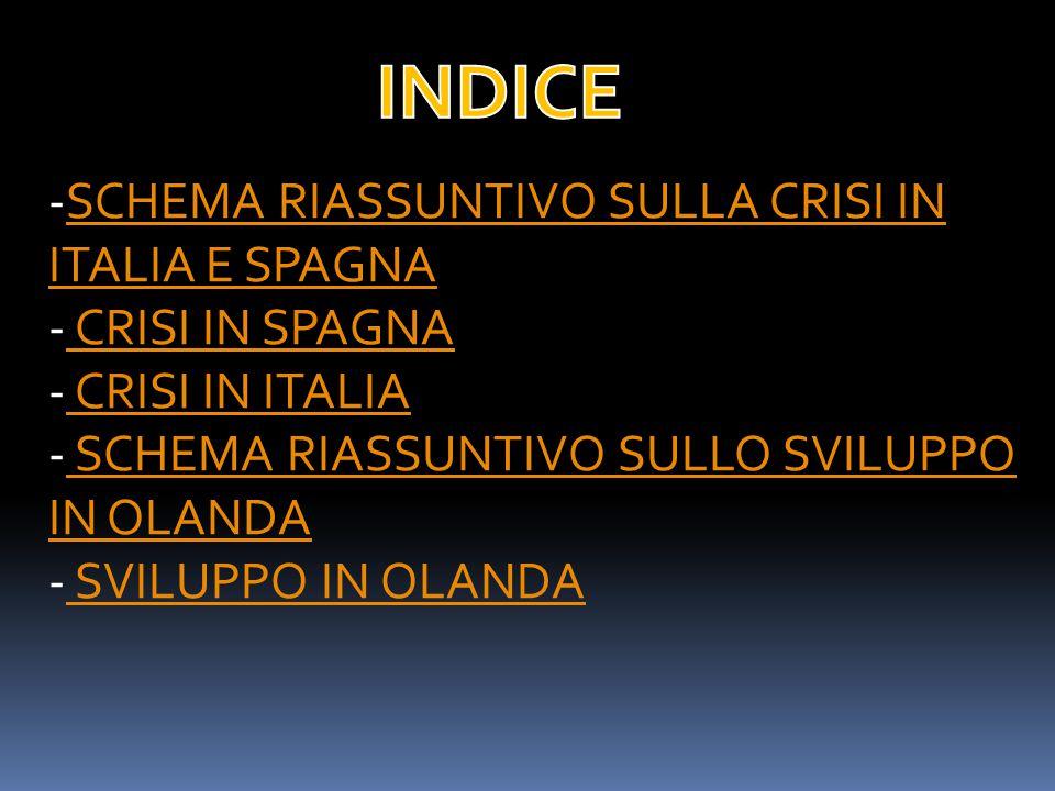 -SCHEMA RIASSUNTIVO SULLA CRISI IN ITALIA E SPAGNASCHEMA RIASSUNTIVO SULLA CRISI IN ITALIA E SPAGNA - CRISI IN SPAGNA CRISI IN SPAGNA - CRISI IN ITALIA CRISI IN ITALIA - SCHEMA RIASSUNTIVO SULLO SVILUPPO IN OLANDA SCHEMA RIASSUNTIVO SULLO SVILUPPO IN OLANDA - SVILUPPO IN OLANDA SVILUPPO IN OLANDA