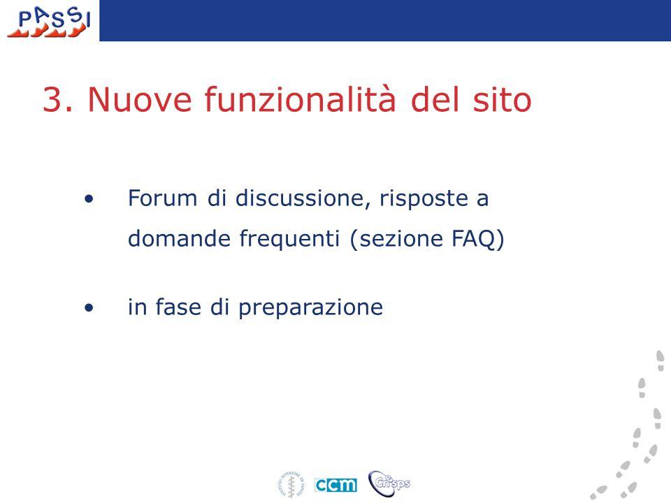 Forum di discussione, risposte a domande frequenti (sezione FAQ) in fase di preparazione 3.